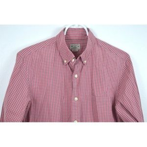 J CREW Small Plaid Cotton Long Sleeve Button Down